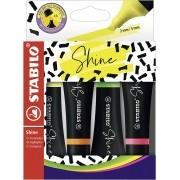 Stabilo, Marcador de Texto Stabilo Shine, Pack com 4 cores