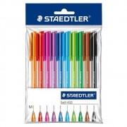 Staedtler, Caneta Esferográfica Ball 432 - 10 cores