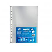 YES, Refil Plástico 10un - A4 - PP - Transparente