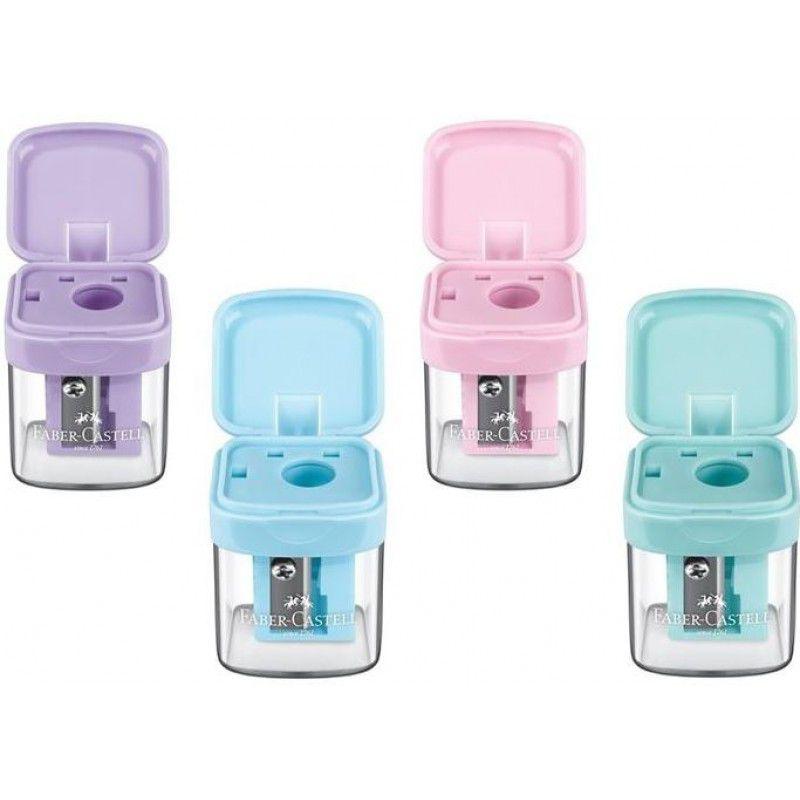 Apontador Faber Castell Minibox - Tons Pastel