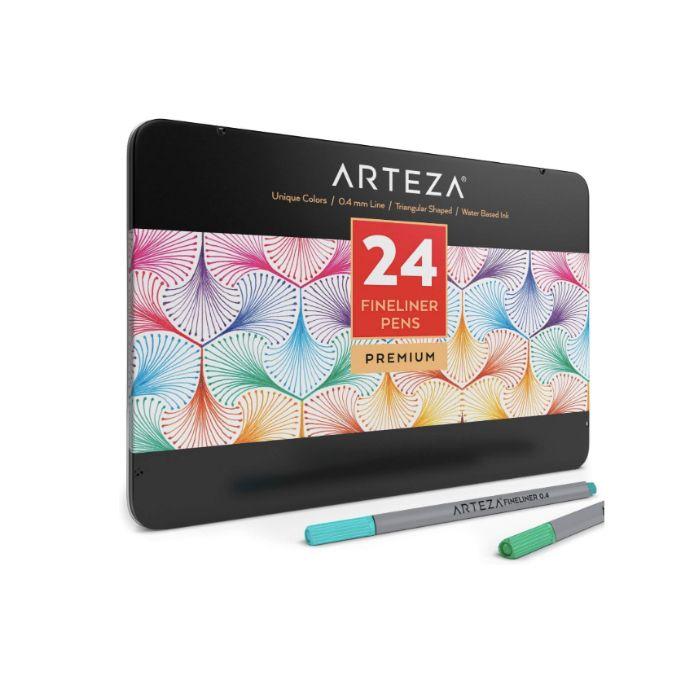 ARTEZA Caneta Fine Pen 0.4mm - 24 cores