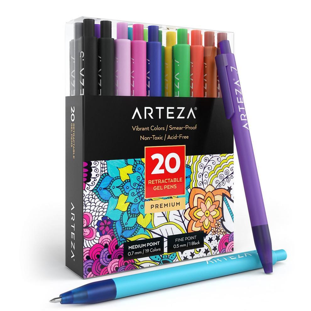 Arteza, Caneta gel Retrátil - Pack com 20