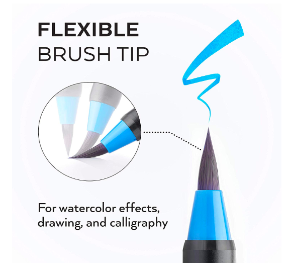 ARTEZA Real Brush Pens - 12 cores