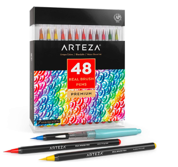 ARTEZA Real Brush Pens - 48 cores
