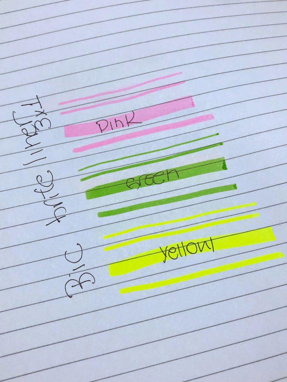 BIC Marca Texto Brite Liner 3 em 1 -  3 cores