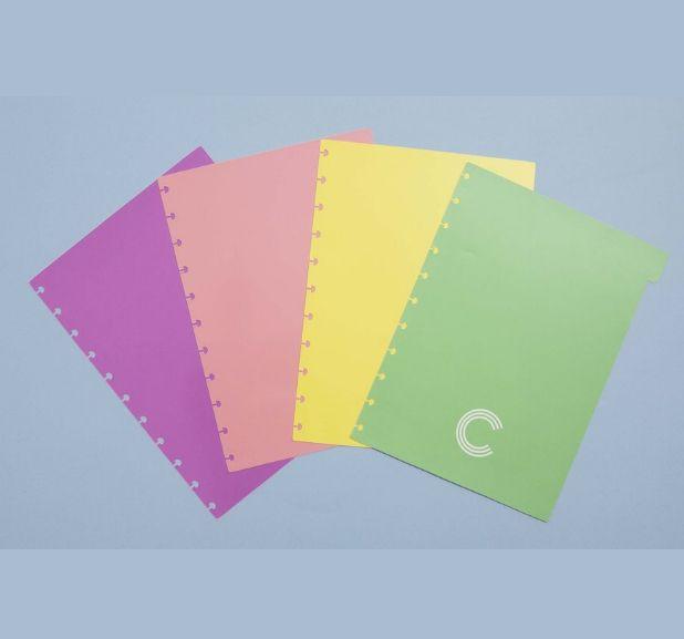 Caderno Inteligente - Divisórias Tons Pastel