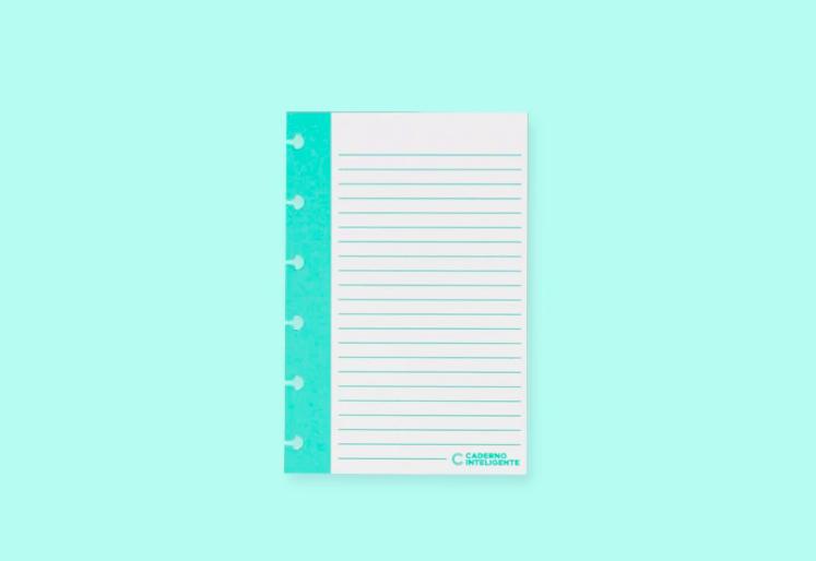 Caderno Inteligente - Fichas Pautadas verticais