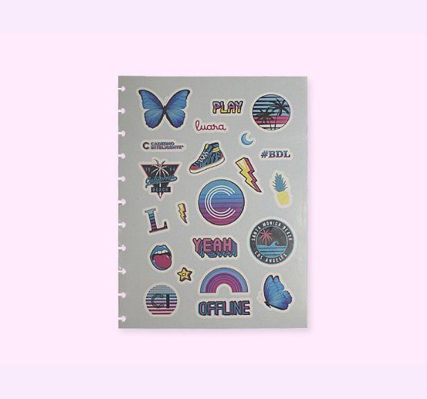 Caderno Inteligente - Folha de adesivos