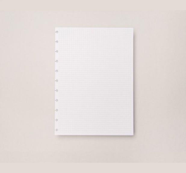 Caderno Inteligente - Folha Refil Quadriculado