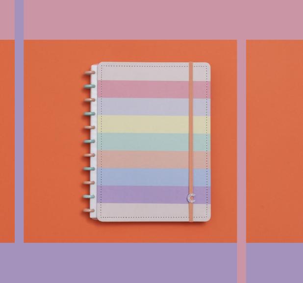 Caderno Inteligente - Grande - Tons Pastel
