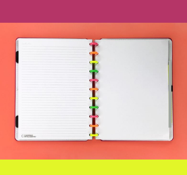Caderno Inteligente - Neon Vibes Tam G