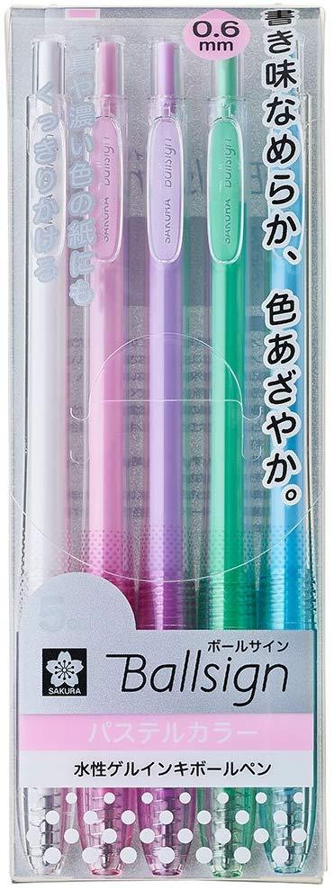 Caneta em Gel Sakura Ballsign - cores Pastel