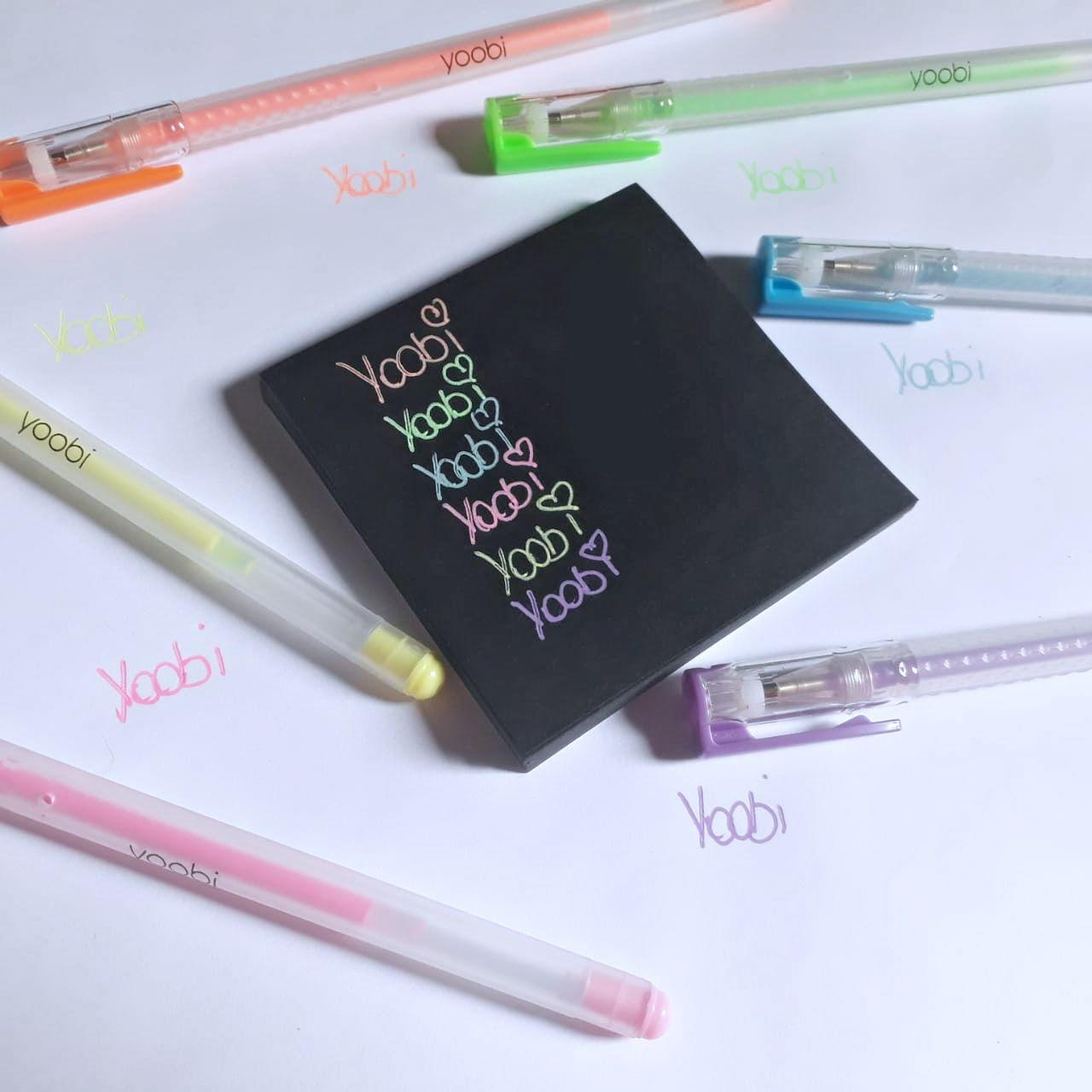 Caneta em gel Yoobi - Tons Pastel
