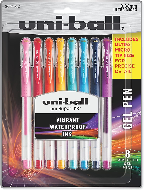 Caneta Esferográfica UniBall Signo DX - pack com 8