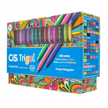 Caneta Gel Cis Trigel - 60 cores
