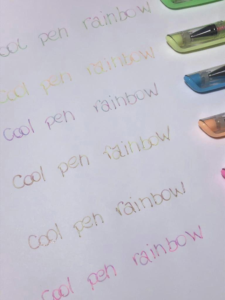 Caneta gel rainbow - Cool Pen