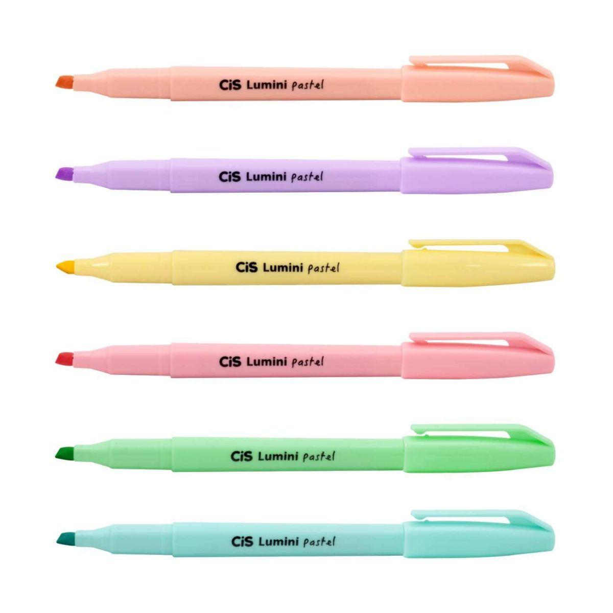Caneta Marca Texto Cis Lumini Pastel - 6 cores