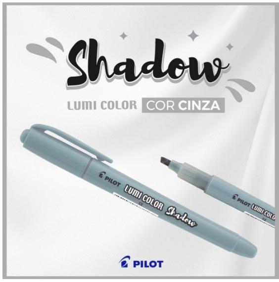 Caneta Marca Texto Pilot Lumi Color Shadow  - Cinza