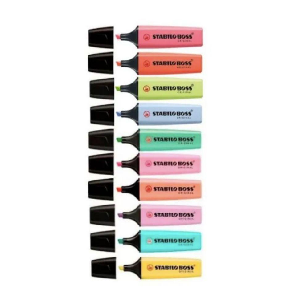 Caneta Marca texto Stabilo Boss Pastel - 10 cores