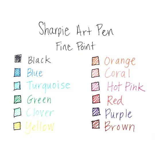 Caneta Sharpie art pen fine point