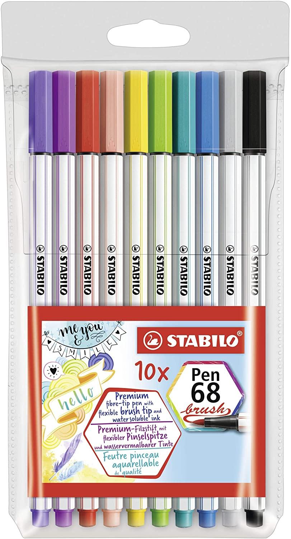 Caneta Stabilo Pen 68 Brush - 10 cores