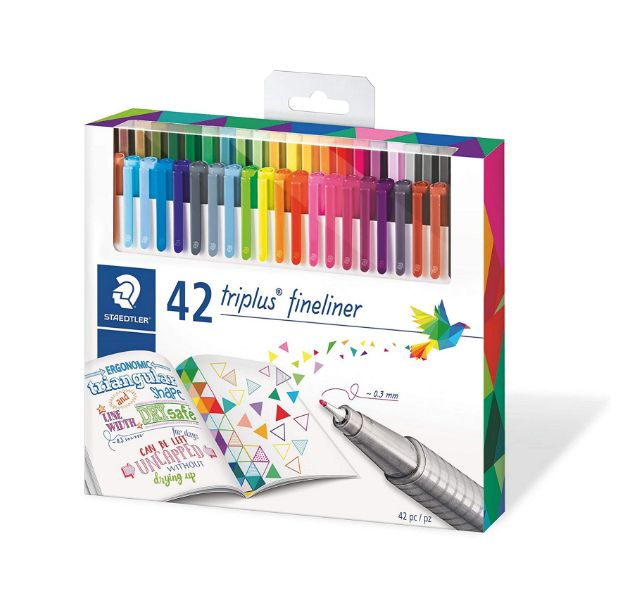 Caneta Staedtler Triplus Fineliner, 0.3mm, 42 cores