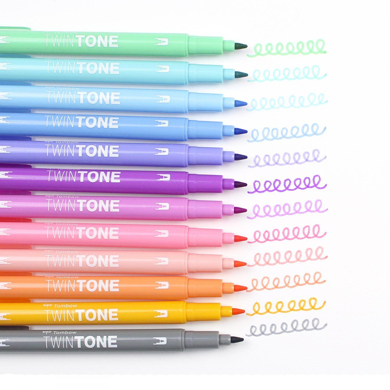 Caneta Tombow TwinTone  Pastel - unidade