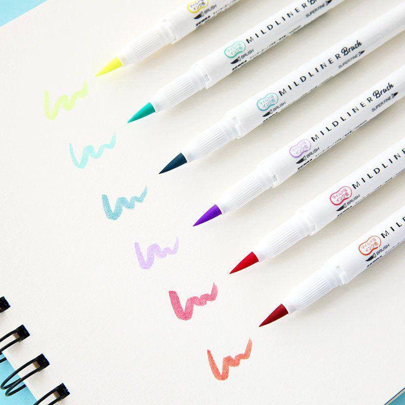 Caneta Zebra Mildliner Brush  Pen- Avulsa