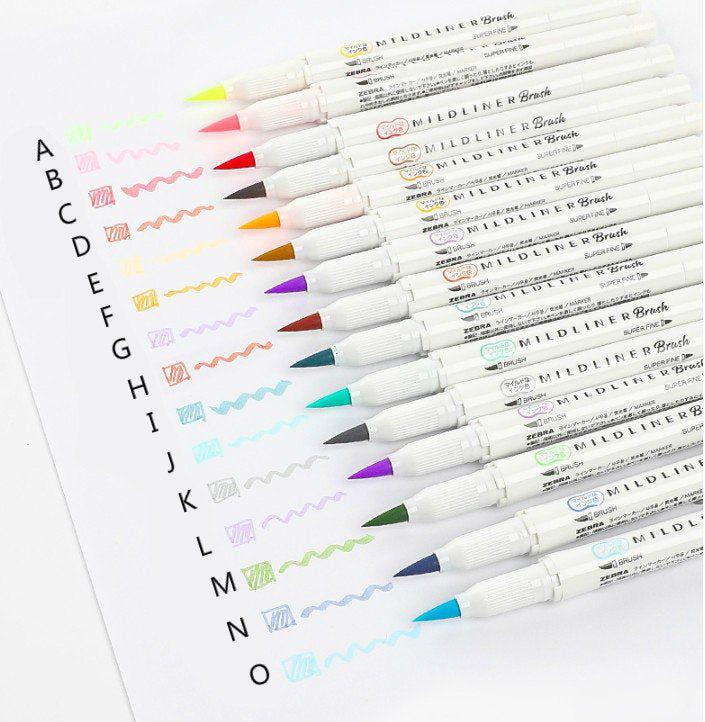 Caneta Zebra Mildliner Brush Pen - Unidade
