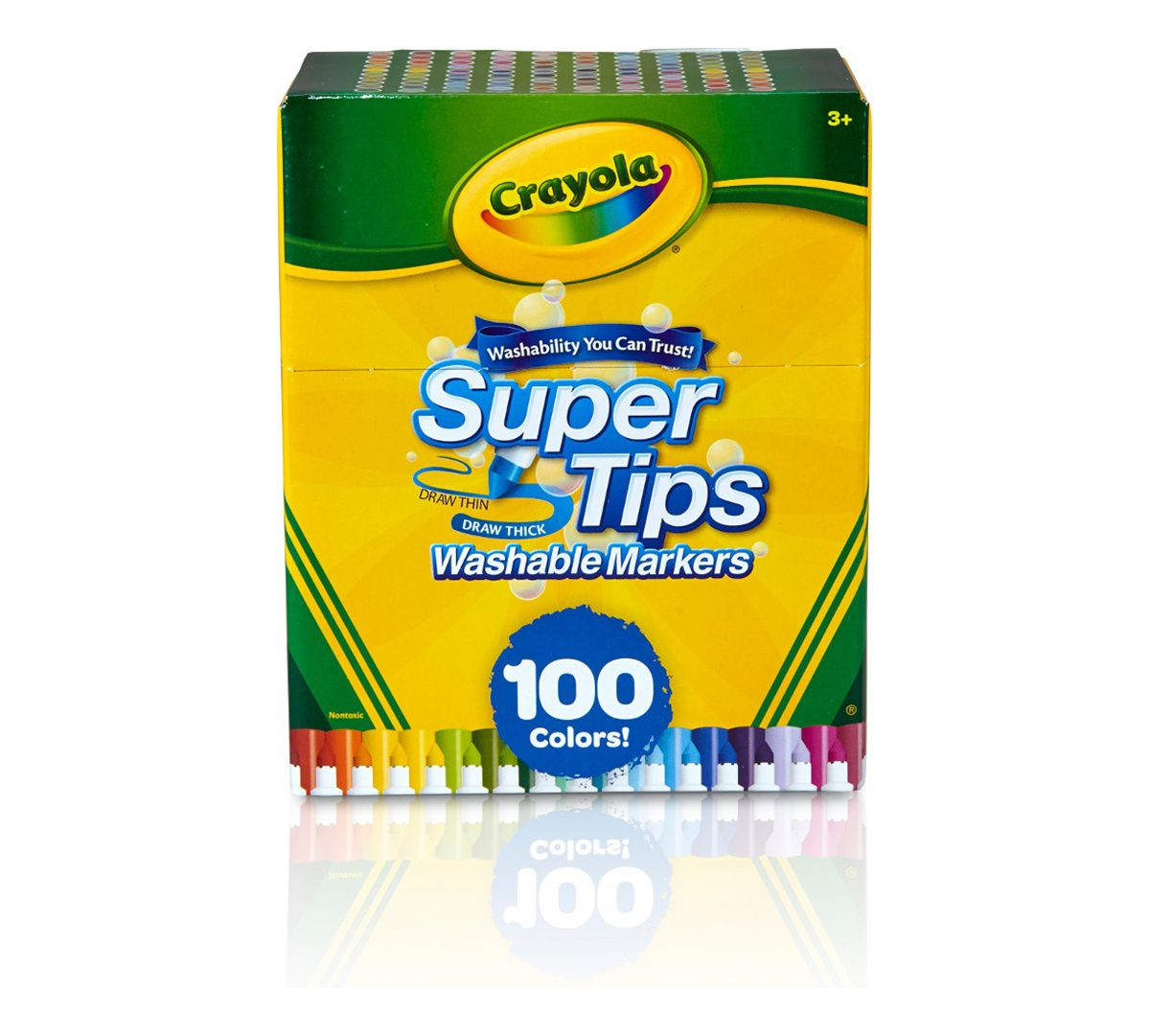 Canetinha Crayola super tips - 100 cores