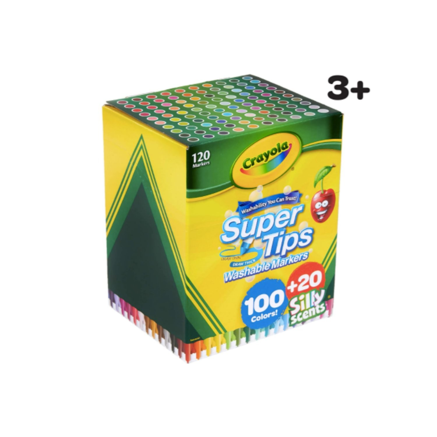 Canetinha Crayola super tips - 100 cores + 20 Silly