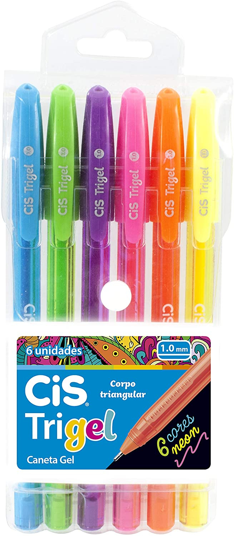CiS, Caneta Gel Cis Trigel Neon - 6 cores
