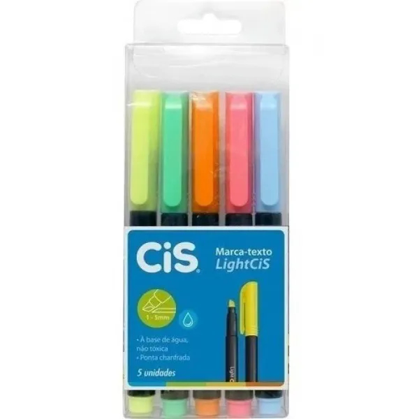 CIS, Marca Texto Cis Light - Pack com 5