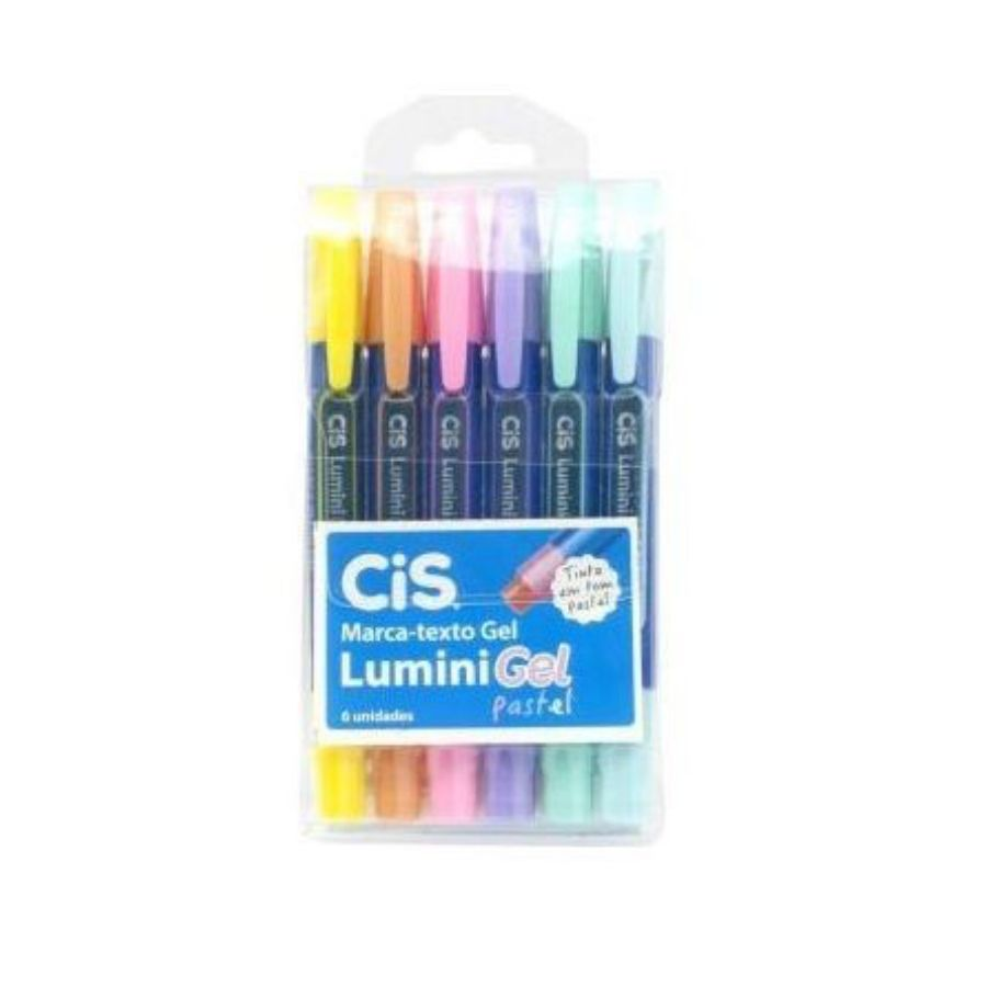 CIS, Marca Texto Lumini Gel  - Tons Pastel