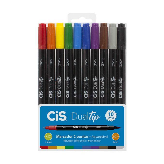 Cis, Marcador CIS Dual Tip - 10 cores