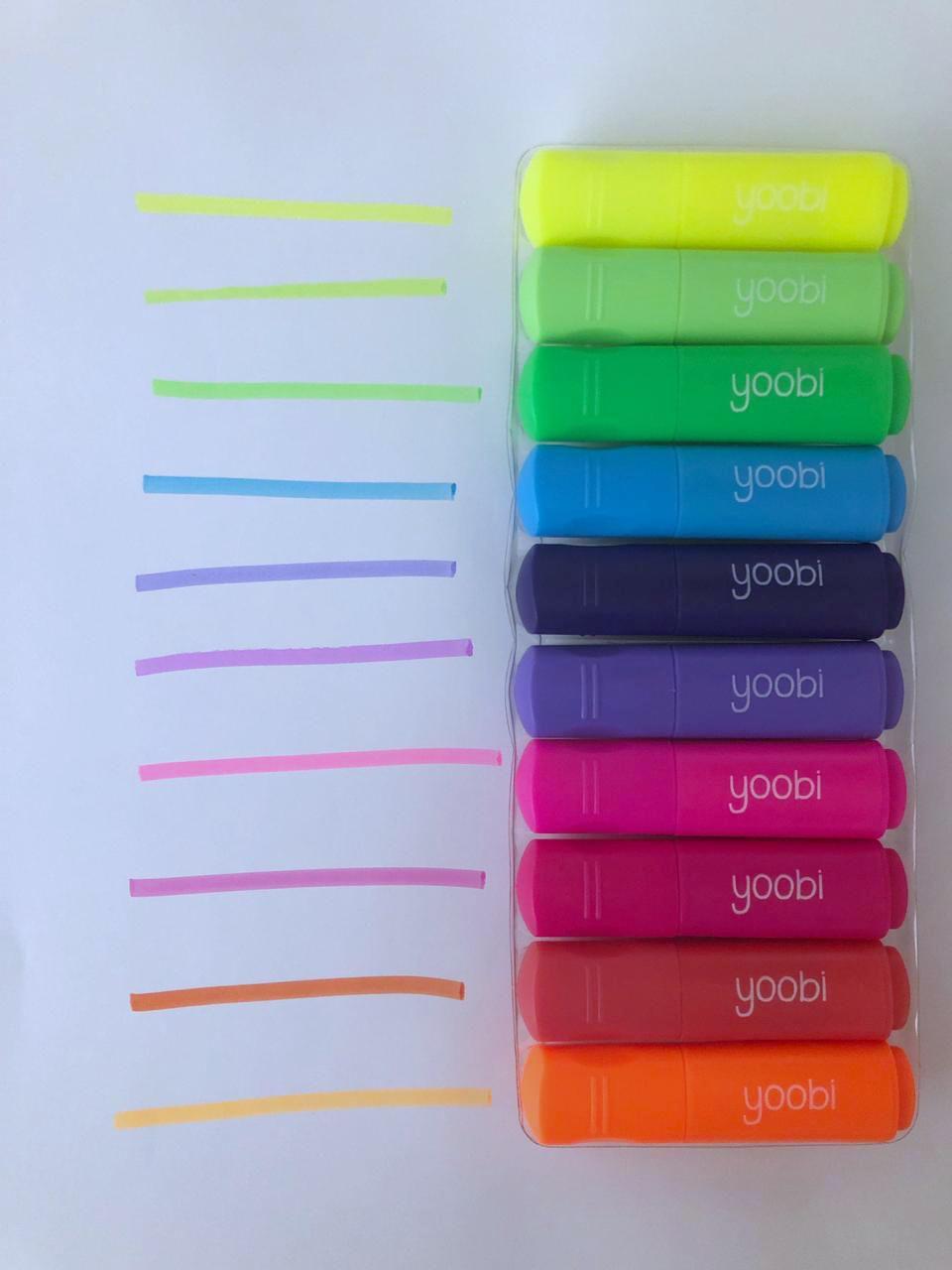 Mini Marca Texto Yoobi - Cores Clássicas