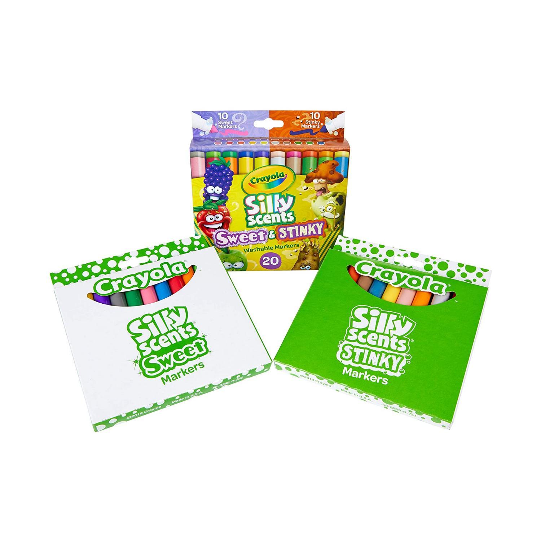 Crayola, Caneta Silly Scents,  Cheiro doce e Fedorento