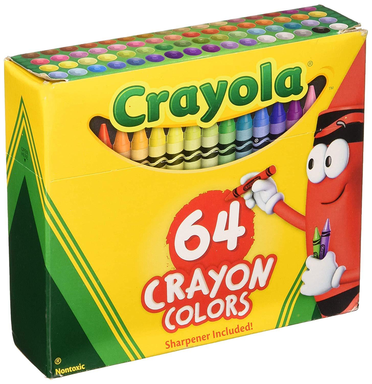 Crayola  Crayons - giz de cera  - 64 cores