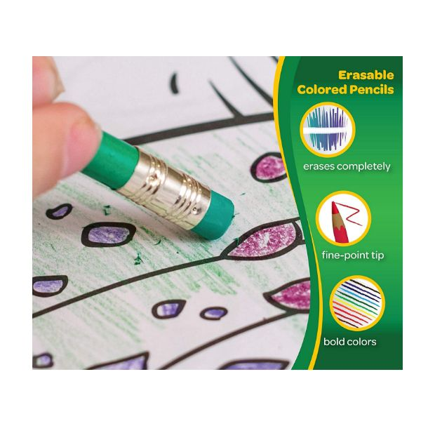 Crayola, Lápis de cor apagável  - 24 cores