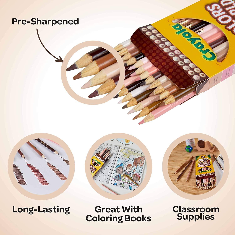 Crayola, Lápis de cor Crayola 24 cores - tons de pele