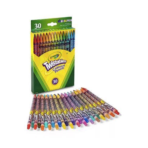 Crayola Twistables Colored Pencils - giz de cera retrátil - 30 cores