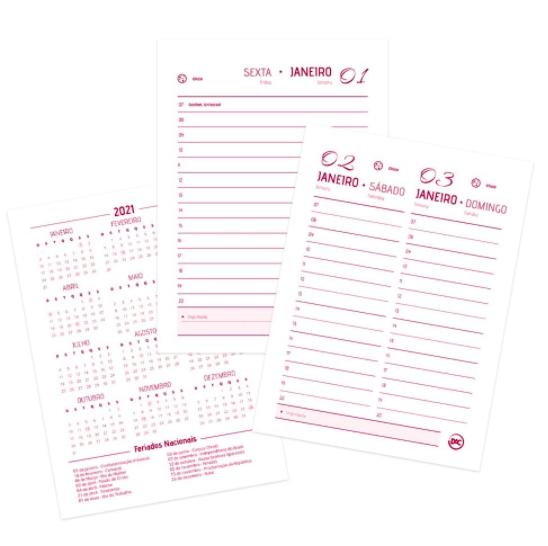 DAC, Agenda Executiva Mini - Pink - 2021 - c/ 336 Páginas - A6