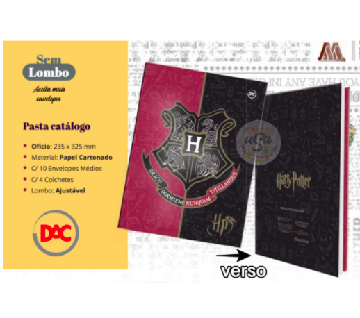 DAC, Pasta Catálogo Harry Potter, 10 plásticos