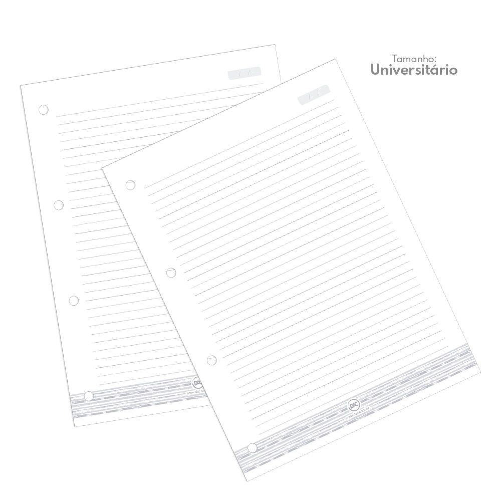 DAC, Refil folha fichário  A4 - 96 folhas