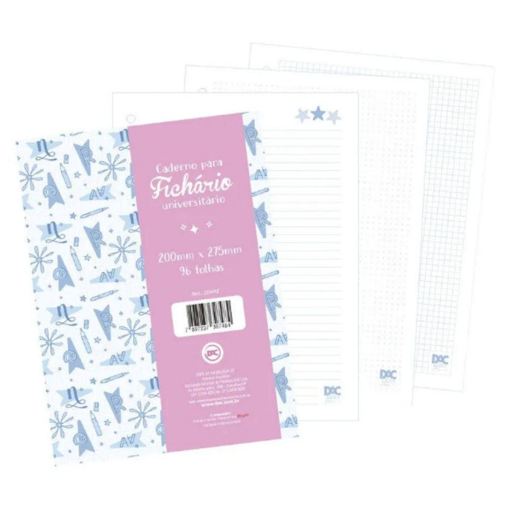 DAC, Refil folha Lettering A4 - 80 folhas