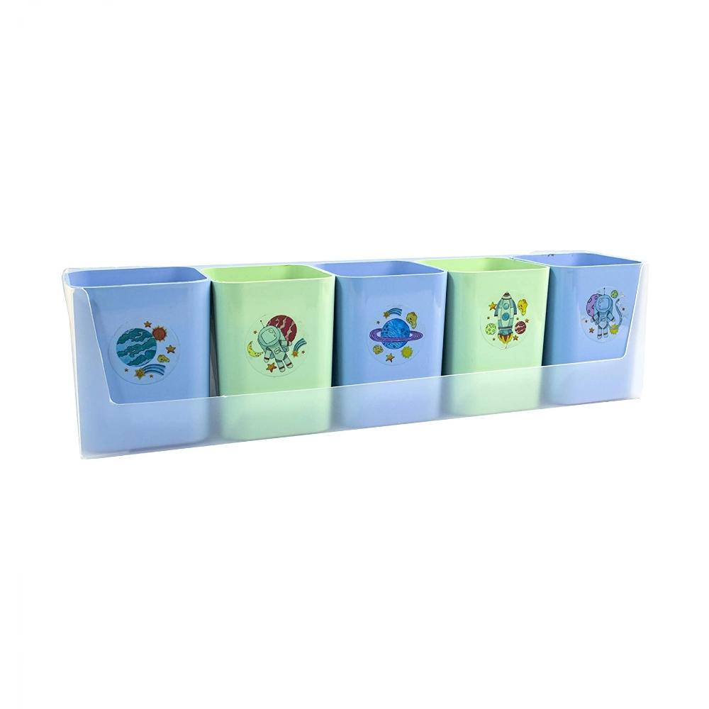 Dello, Kit 5 Porta Objetos Organizador de mesa