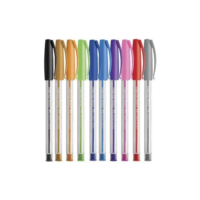 Faber Castell - Caneta Esferografica Trilux colorida 1.0mm  - 10 cores