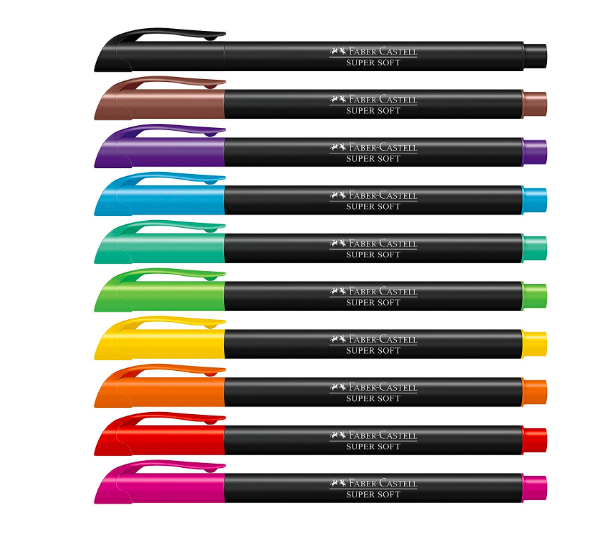Faber-Castell Hidrografica Supersoft Brush 10 Cores
