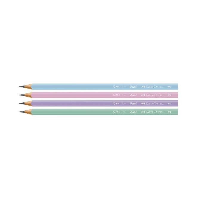 Faber Castell, Lápis Grafite EcoLápis - Tons Pastel - 4 Unidades