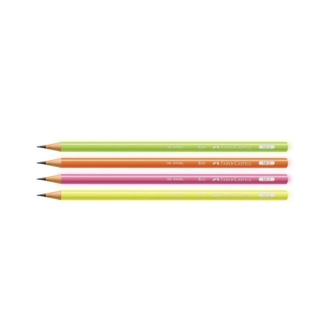 Faber Castell,Lápis Preto Escolar Max Neon - 4 cores